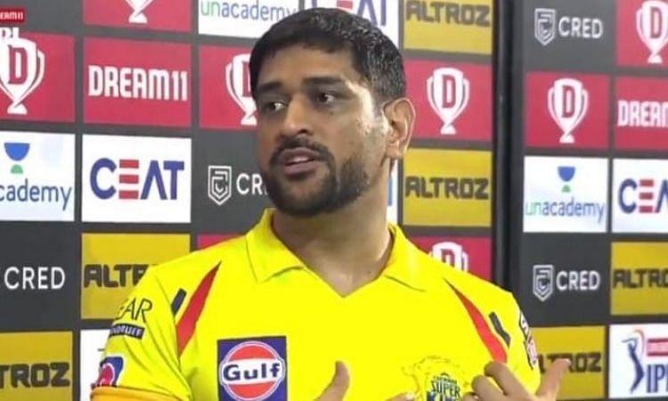 IPL-13: धोनी ने बताया कारण, राजस्थान रॉयल्स के खिलाफ क्यों आये थे नंबर-7 पर बल्लेबाज़ी करने..