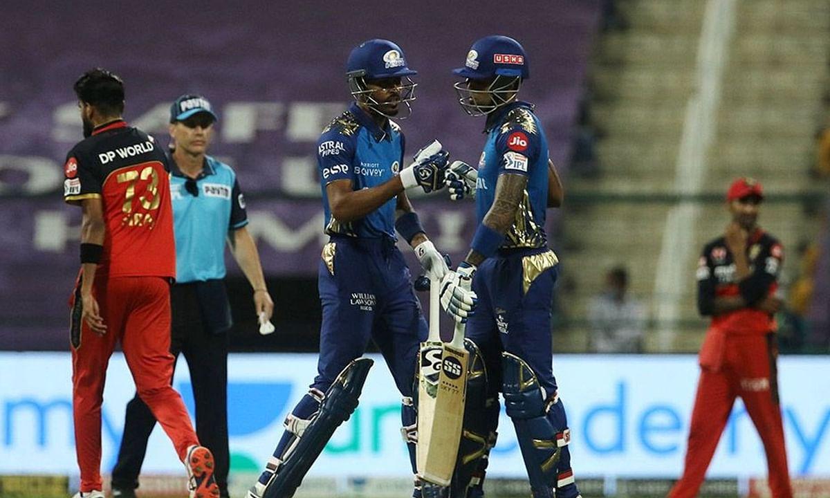 IPL-13: प्लेऑफ की तरफ मुंबई इंडियंस का एक और कदम, रॉयल चैलेंजर्स बैंगलोर को 5 विकेट से हराया