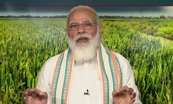 महामारी के बीच 80 करोड़ गरीबों को मुफ्त में राशन दे रहा भारत : PM मोदी