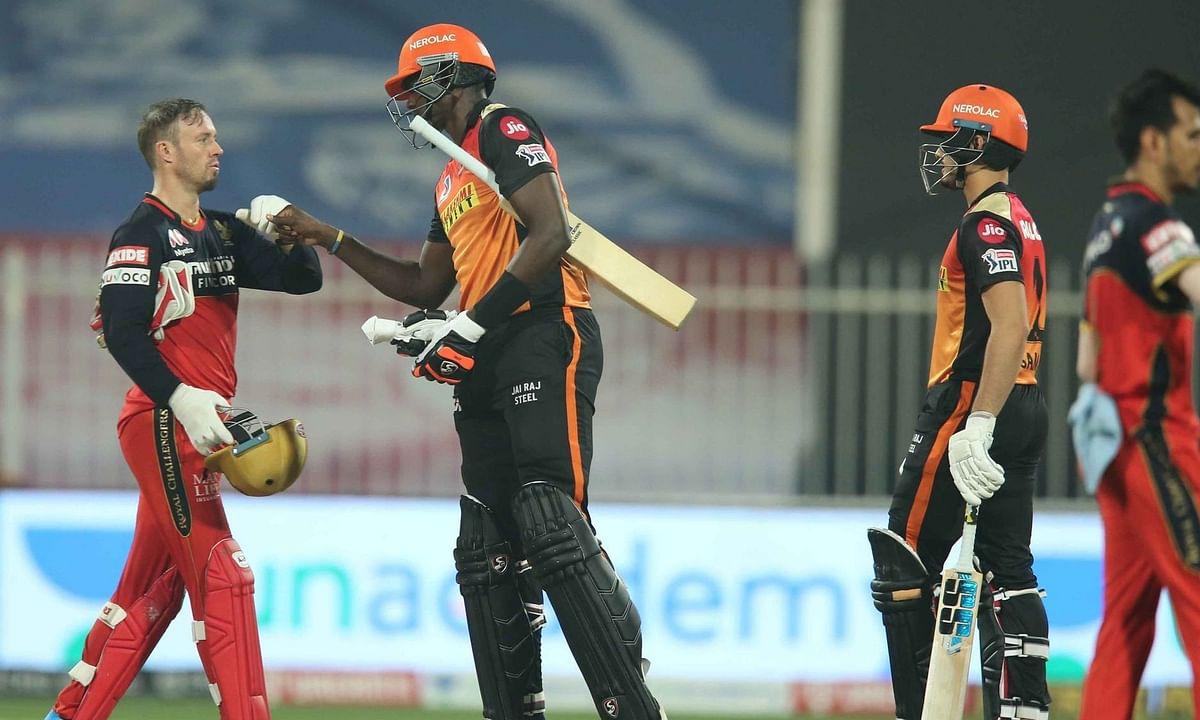 IPL-13: सनराइजर्स हैदराबाद ने रॉयल चैलेंजर्स बैंगलोर को 5 विकेट से हराया