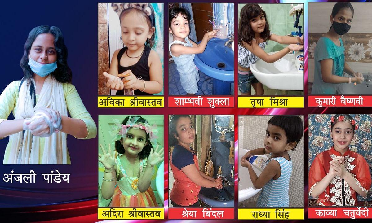 लखनऊ : विश्व हैंड वाश डे पर बालमंच के बच्चो ने हाथों को धुलकर दिया कोरोना भगाने का संदेश