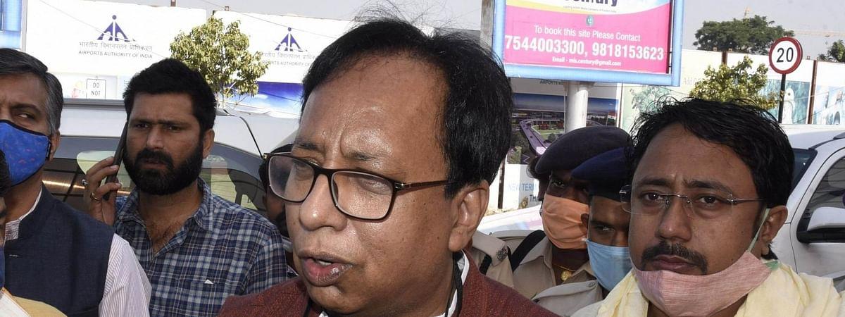 बिहार चुनाव: रूझानों में बढ़त के बाद भाजपा कार्यालय पहुंचे प्रदेश अध्यक्ष संजय जायसवाल
