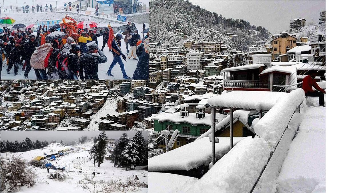 पर्वतीय इलाकों में हिमपात ने बढ़ाया सैलानियों का आकर्षण, पर्यटन कारोबार में आई तेज़ी
