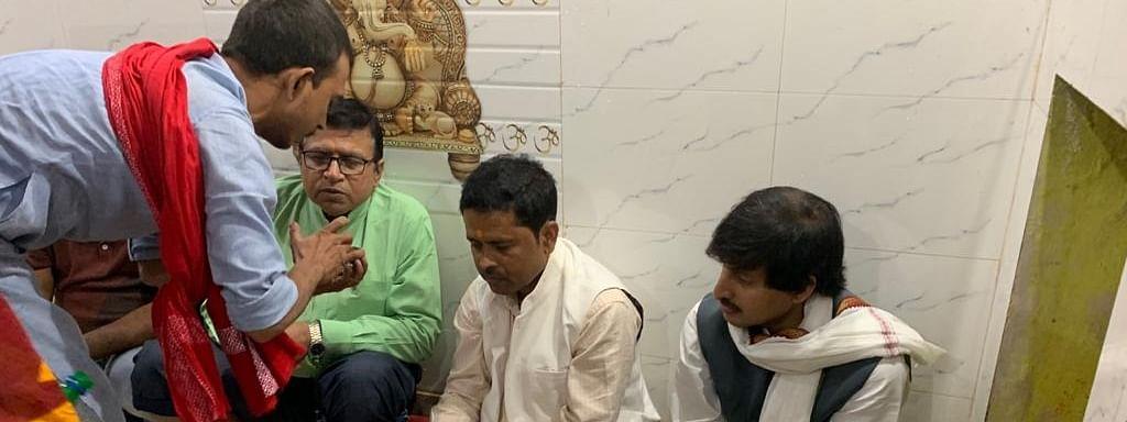बिहार: चुनाव परिणाम के पूर्व प्रत्याशी पहुंचे भगवान की शरण