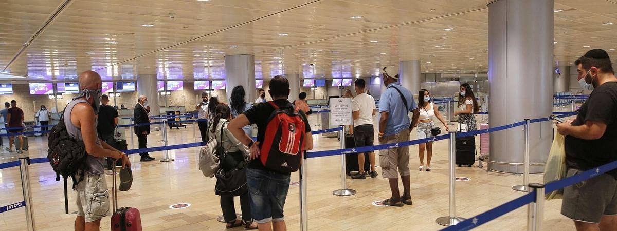 इजराइल के बेन गुरियन हवाई अड्डे पर कोविड परीक्षण लैब तैयार