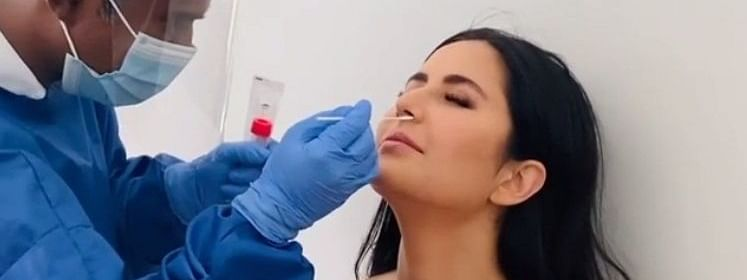 शूटिंग से पहले कटरीना कैफ ने कराया कोरोना टेस्ट, सोशल मीडिया पर विडियो शेयर कर कहा, 'सेफ्टी फर्स्ट'