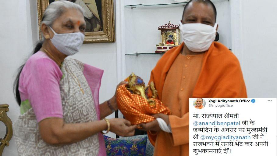 उत्तर प्रदेश की राज्यपाल आनंदीबेन पटेल को मुख्यमंत्री योगी आदित्यनाथ ने दी जन्मदिन की बधाई