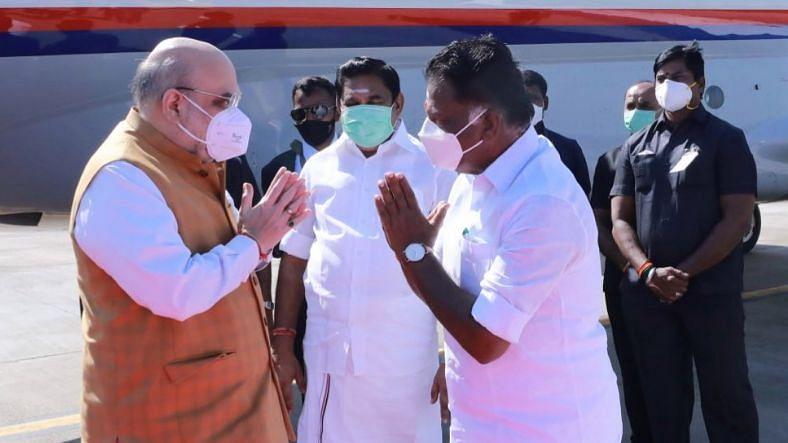 गृह मंत्री अमित शाह तमिलनाडु की राजधानी चेन्नई पहुंचे