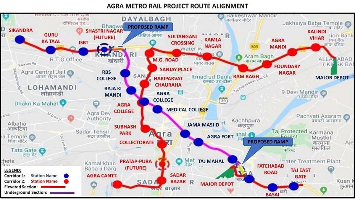 सात दिसंबर को पीएम मोदी करेंगे आगरा मेट्रो रेल परियोजना का शिलान्यास