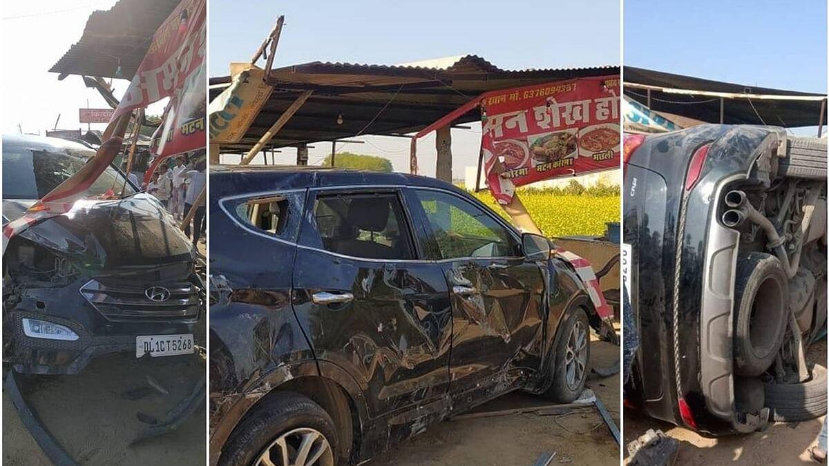 पूर्व भारतीय कप्तान मोहम्मद अजहरुद्दीन की कार ढाबे में घुसी, हादसे में बाल-बाल बचे