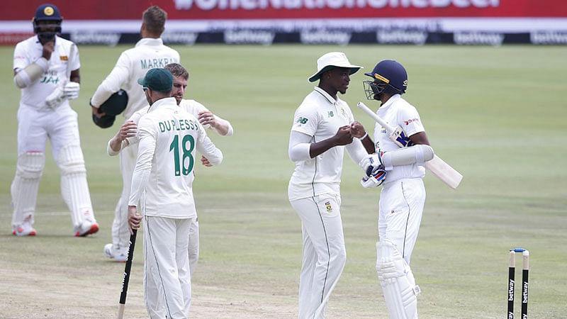सेंचुरियन टेस्ट: श्रीलंका को पारी और 45 रन से हराकर दक्षिण अफ्रीका ने ली 1-0 की बढ़त
