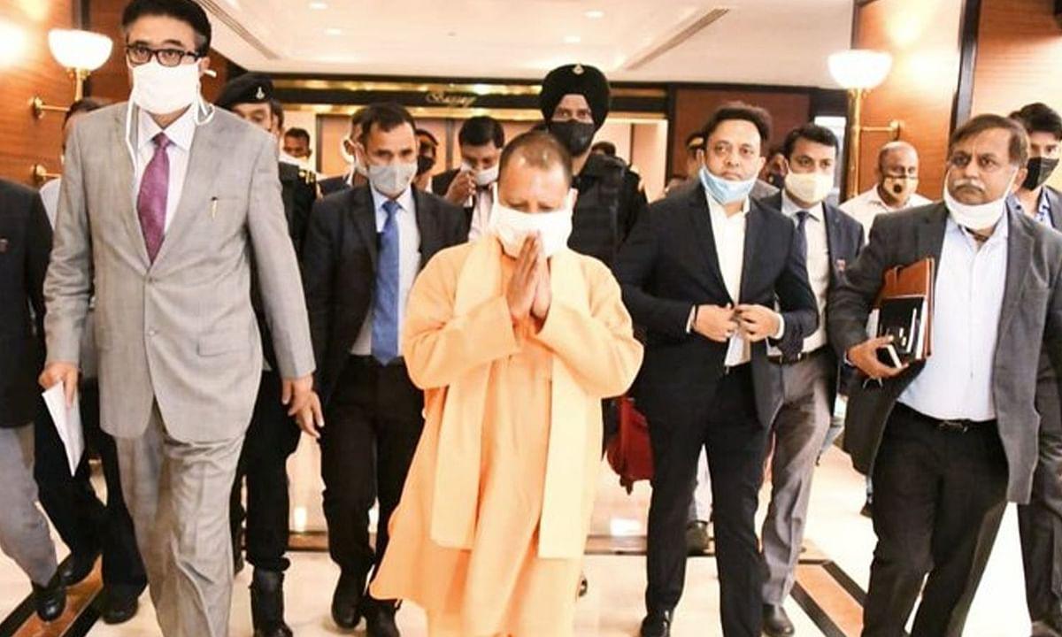 """CM योगी ने मुंबई में कहा """"असीमित संभावनाओं वाले उत्तर प्रदेश में आपका स्वागत है। हम आपको सुरक्षा, सम्मान और माहौल देंगे।"""""""