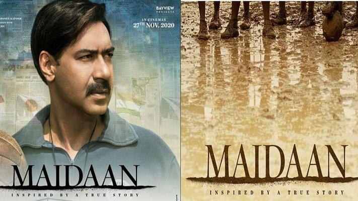 अजय देवगन ने शेयर किया फिल्म 'मैदान' का पोस्टर, दशहरे में होगी रिलीज