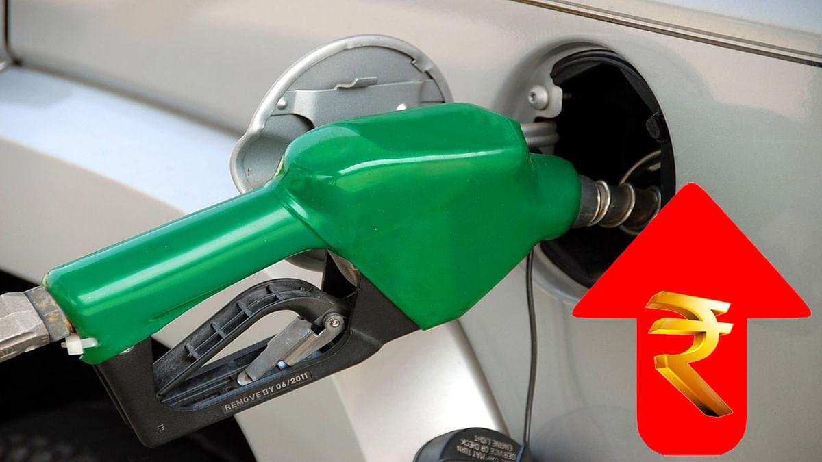 एक बार फिर बढ़े पेट्रोल के दाम, कीमत रिकॉर्ड उंचाई के करीब