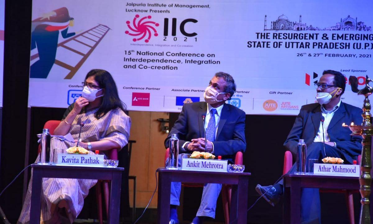 दो दिवसीय IIC कान्फ्रेन्स-2021 जयपुरिया प्रबन्ध संस्थान लखनऊ में किया गया आयोजित