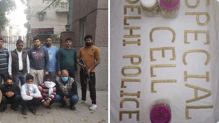 दिल्ली पुलिस ने 6 लोगों को गिरफ्तार कर 4,500 जिंदा कारतूस जब्त किए