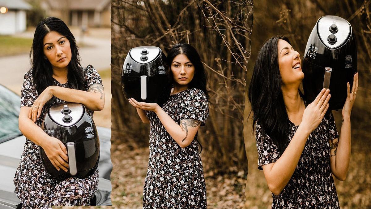 कपल फोटोशूट तो बहुत देखें होंगे, नहीं देखा होगा जब एक महिला ने किसी मशीन के साथ किया ऐसा अनोखा फोटोशूट..