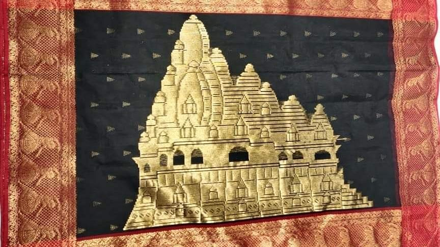 राज्यपाल आनंदी बेन पटेल ने खजुराहो के मंदिरों पर आधारित साड़ी की लॉन्च