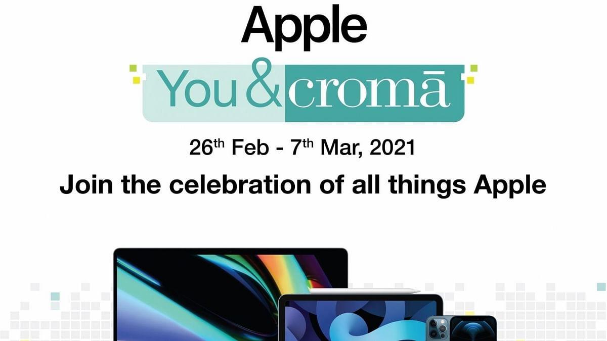 क्रोमा के साथ सभी एप्पल उत्पादों का अनुभव लें, एक ही छत के नीचे