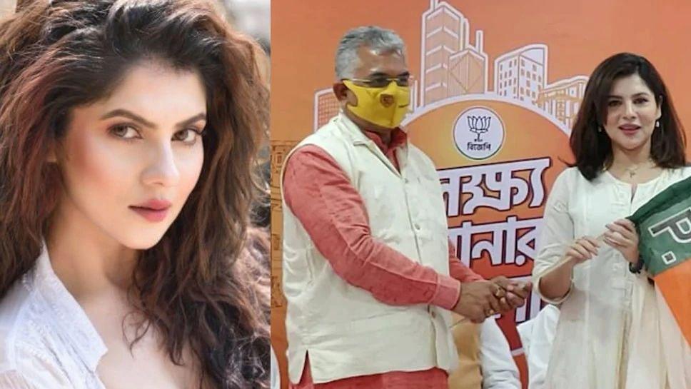 अभिनेत्री पायल सरकार BJP में हुई शामिल, बंगाल चुनाव से पहले थामा 'कमल' का दामन