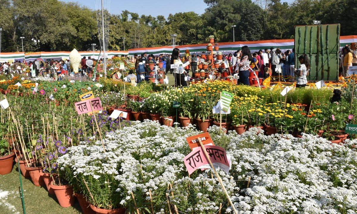 लखनऊ: राजभवन में आयोजित हुई पुष्प प्रदर्शनी