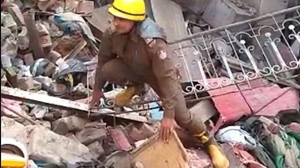 दिल्ली के सदर बाजार में मकान ढहने से 3 घायल