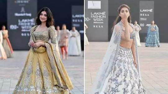 Lakme Fashion Week 2021: पूजा हेगड़े और दिव्या खोसला कुमार ने बिखेरे रैम्प पर जलवे