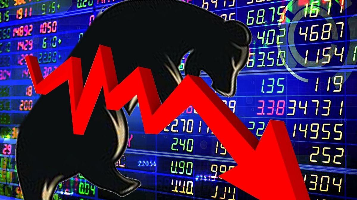 सपाट खुलने के बाद टूटा शेयर बाजार, सेंसेक्स 500 अंक लुढ़का