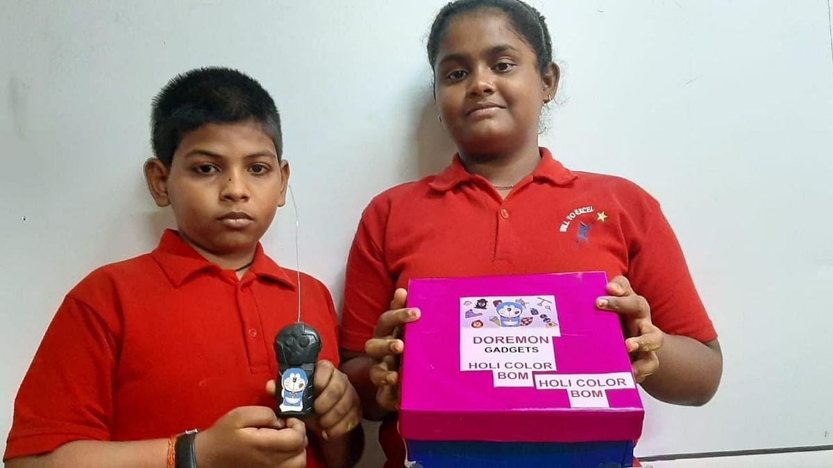 वाराणसी: स्कूल सहायिका के बच्चों का गुलाल बम, होली पर देगा चीन को टक्कर