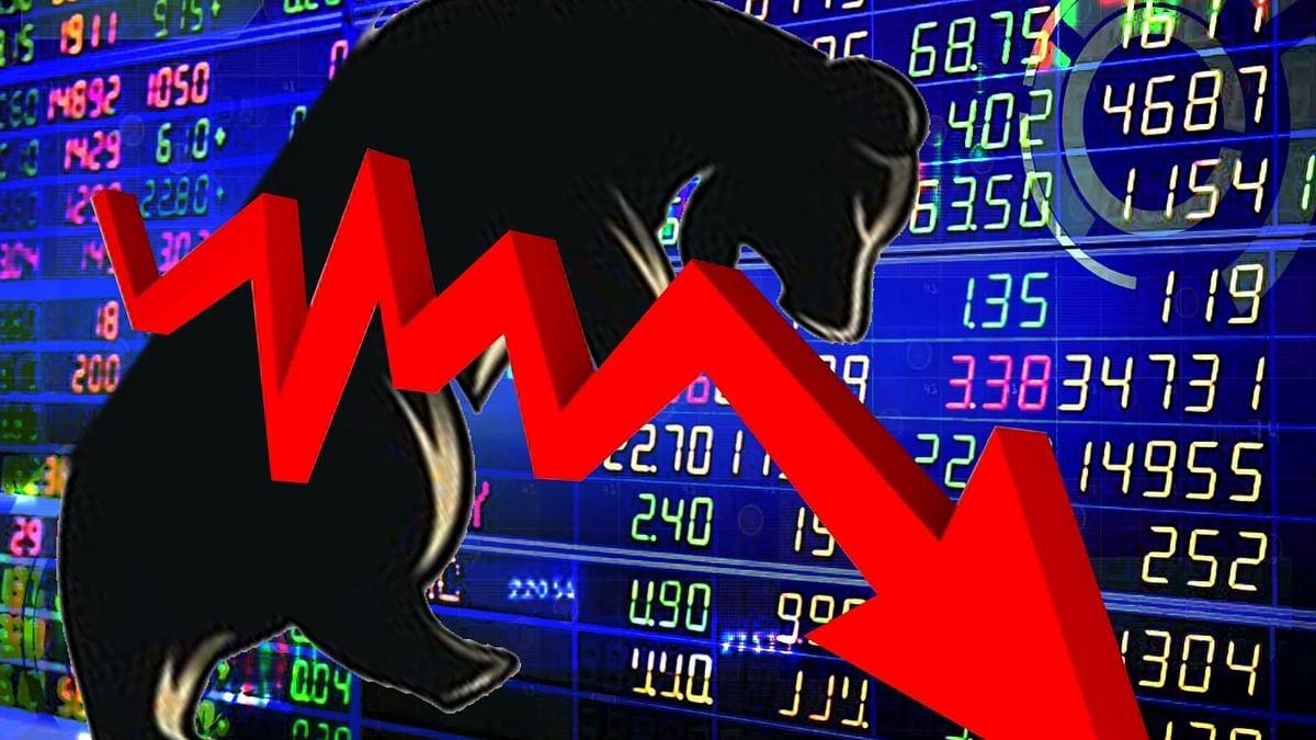 शेयर बाजार पर कोरोना का साया, सेंसेक्स 350 अंक टूटा, निफ्टी में 100 अंकों की गिरावट