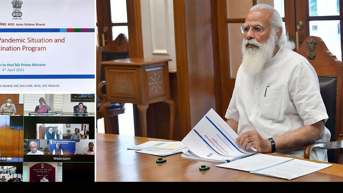 PM ने की कोविड स्थिति की समीक्षा, कहा- 'मिशन-मोड' में हों रोकथाम के काम