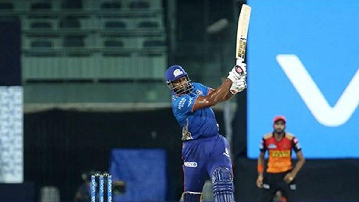 आईपीएल 14 : मुंबई ने हैदराबाद को 13 रन से हराया