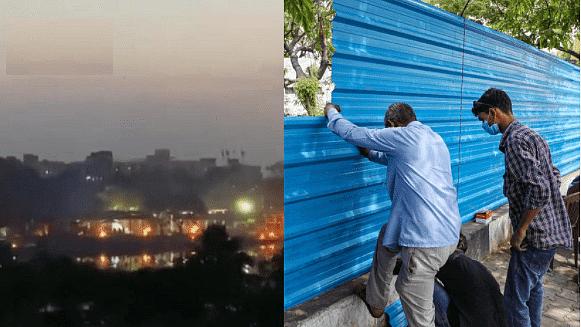 लखनऊ: चिताओं के वायरल वीडियो के बाद टीन शीट की चादर से ढका गया शमशान घाट, विपक्ष ने किया हमला
