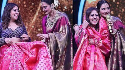 Indian Idol 12: बिग बी का गाना सुन झूम उठीं रेखा, साथ ही नेहा कक्कड़ को दिया 'शादी का शगुन'