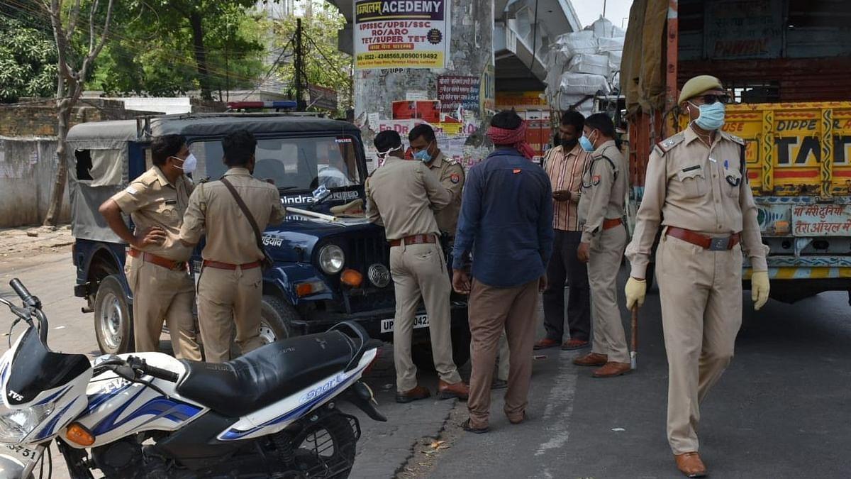 लखनऊ: लॉकडाउन में पुलिस द्वारा चलाया गया वाहन चेकिंग अभियान