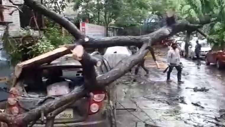 मुंबई पर मंडराया चक्रवात तौकते, कई पेड़ धराशायी, घरों को नुकसान