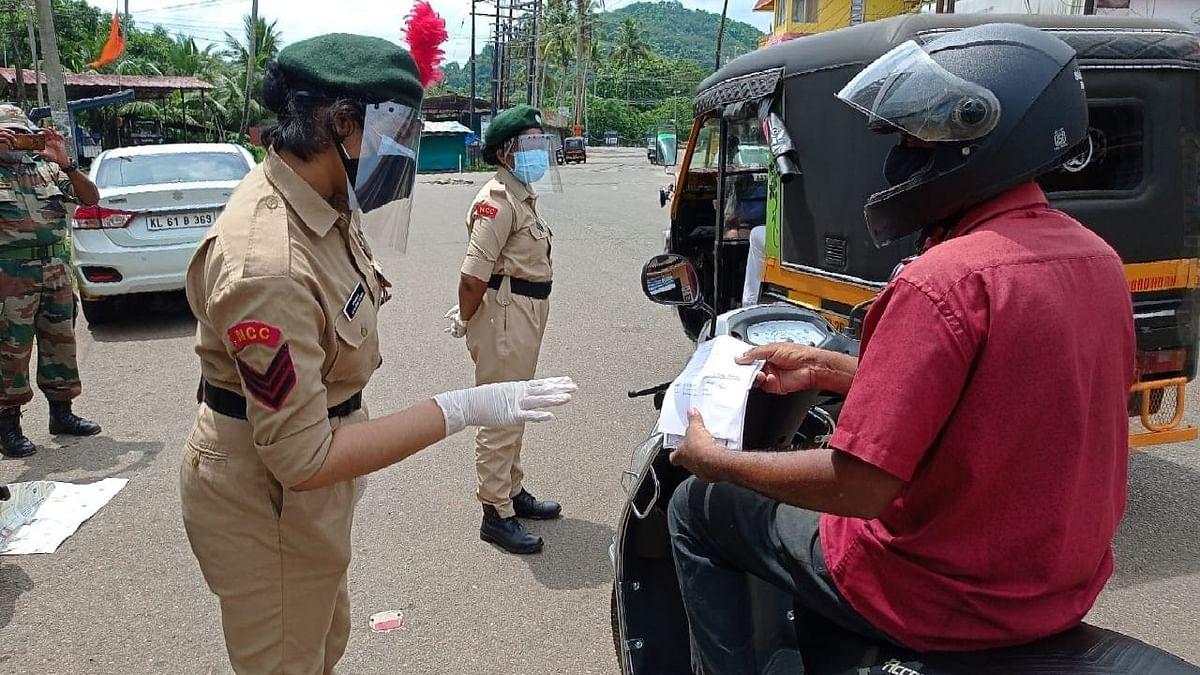 केरल में एनसीसी कैडेट कोविड ड्यूटी में हुए शामिल