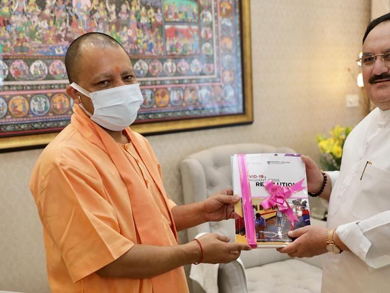 मुख्यमंत्री योगी ने पीएम मोदी के बाद की भाजपा प्रमुख जेपी नड्डा से मुलाकात