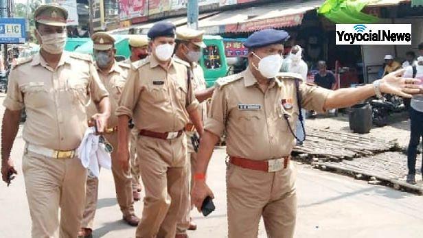 लखनऊ: पॉलिटेक्निक चौराहे पर लगने वाले जाम को देखते हुए चलाया गया पुलिस अभियान