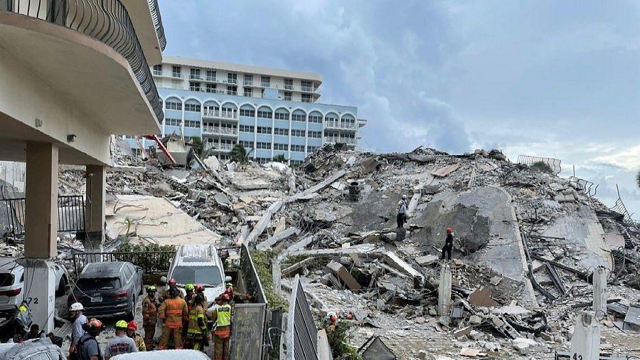 फ्लोरिडा में इमारत गिरने की घटना में मृतकों की संख्या बढ़कर 78 हुई