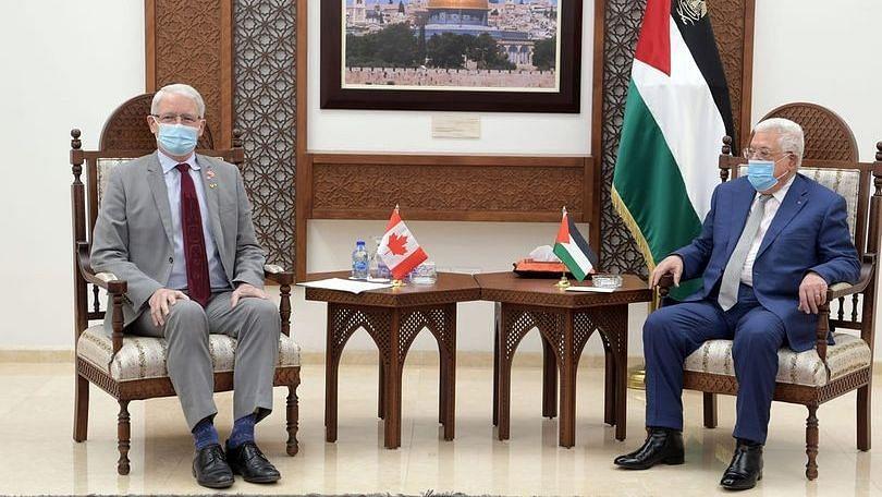 फिलिस्तीनी राष्ट्रपति ने रामल्लाह में कनाडा के विदेश मंत्री से मुलाकात की