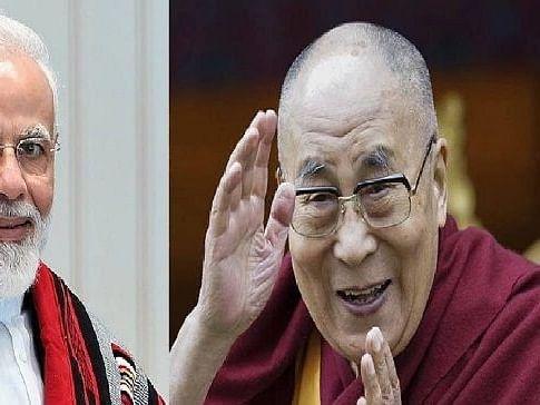 दलाई लामा ने मोदी को 71वें जन्मदिन की बधाई दी