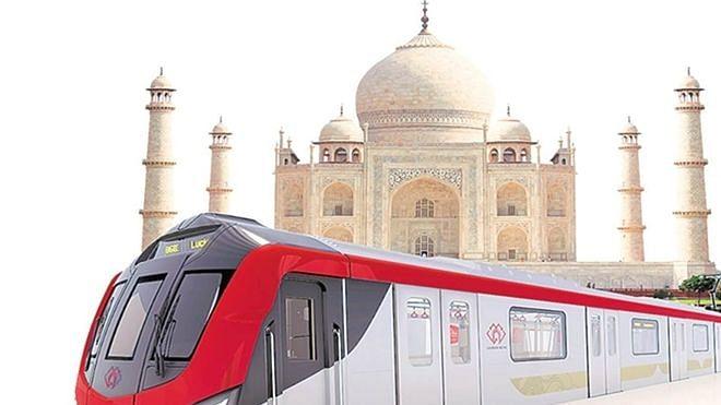आगरा मेट्रो निर्माण कार्य ने पकड़ी रफ्तार, 10 महीने में पूरा हुआ 100 पिलर्स का निर्माण
