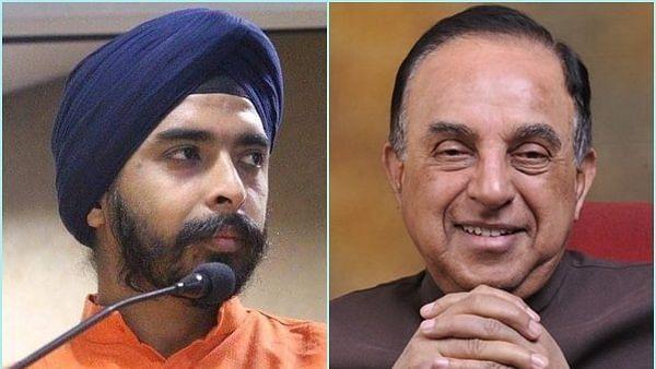 सुब्रमण्यम स्वामी को भाजपा के इस नेता ने दी कानूनी कार्रवाई की धमकी