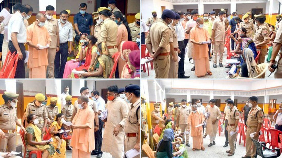 उत्तर प्रदेश : CM योगी ने आज गोरखनाथ मंदिर परिसर में 'जनता दर्शन' में आए लोगों की समस्याओं को सुना
