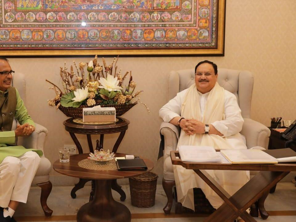 CM शिवराज ने दिल्ली में की पार्टी अध्यक्ष जेपी नड्डा से मुलाकात
